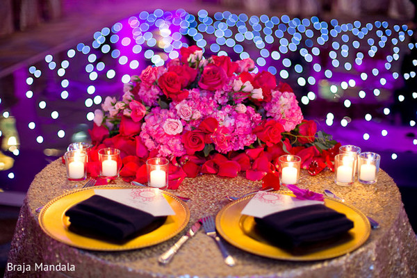 Reception Decor in Birmingham, AL Indian Wedding by Braja Mandala Wedding Photography
