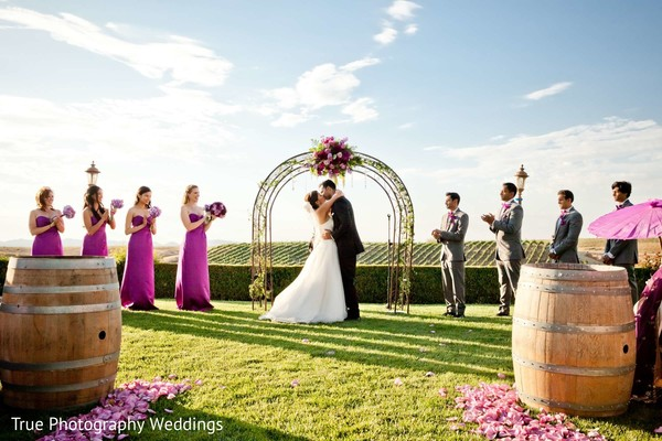 Ceremony in Temecula, CA Indian Wedding by True Photography Weddings