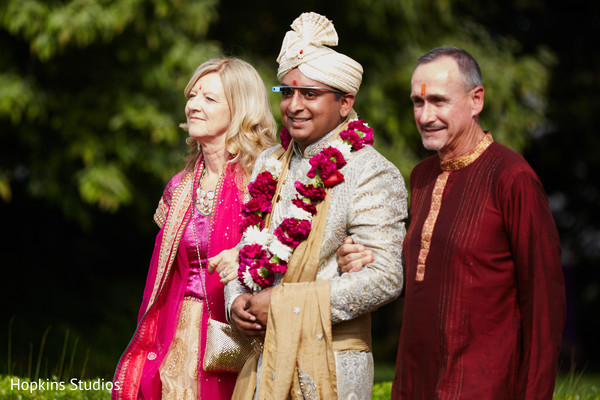 Ceremony in Charlottesville, VA Indian Fusion Wedding by Hopkins Studios