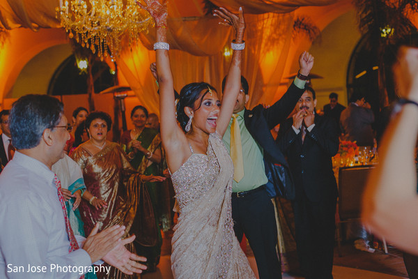 Reception in Santa Barbara, CA Hindu-Christian Wedding by San Jose Photography