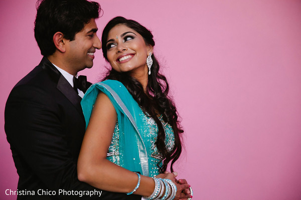 Engagement portraits in Los Angeles, CA Indian Engagement by Christina Chico Photography