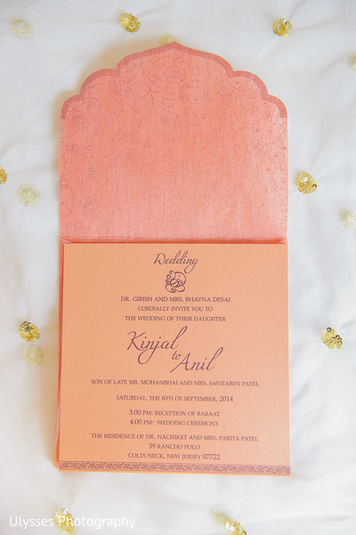 Wedding Stationery in Colts Neck, NJ Indian Wedding by Ulysses Photography