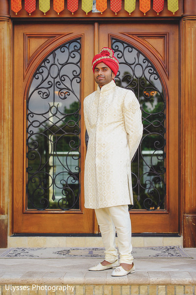 Groom in Colts Neck, NJ Indian Wedding by Ulysses Photography