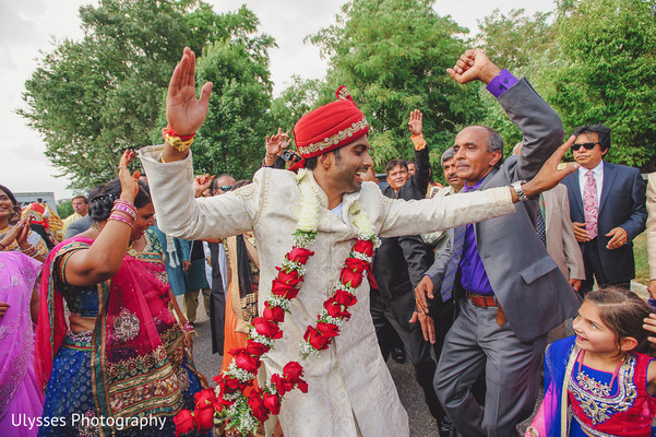 Baraat in Colts Neck, NJ Indian Wedding by Ulysses Photography