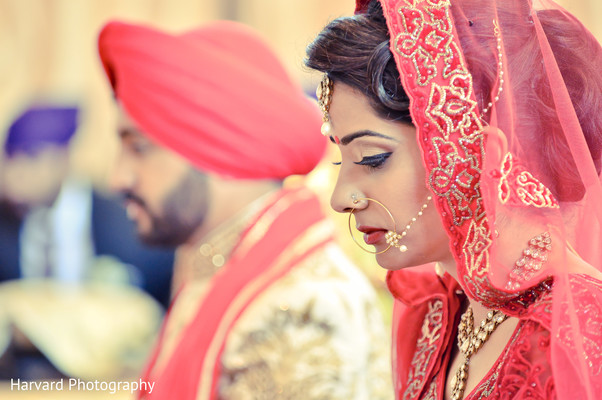 Ceremony in Los Angeles, CA Sikh Wedding by Harvard Photography