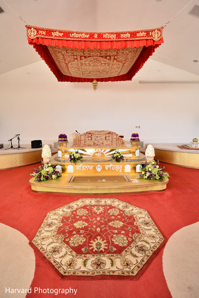 Floral & Decor in Los Angeles, CA Sikh Wedding by Harvard Photography