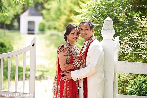 First Look in Alexandria, VA Indian Wedding by Regeti's Photography