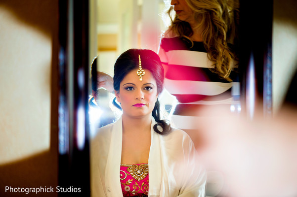 Getting Ready in Potomac, MD Fusion Wedding by Photographick Studios