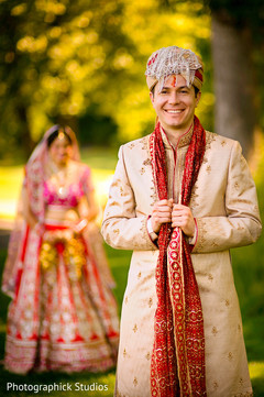 indian wedding party portraits