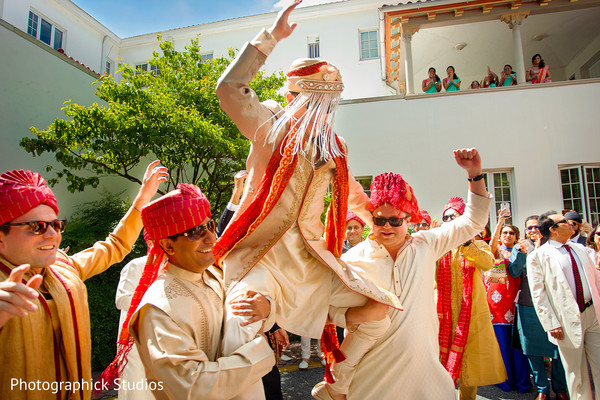 Baraat in Potomac, MD Fusion Wedding by Photographick Studios