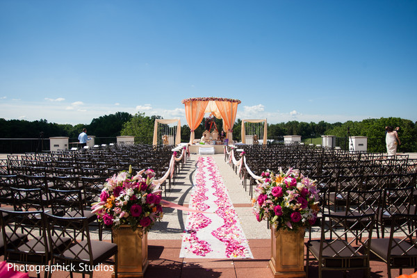 Ceremony in Potomac, MD Fusion Wedding by Photographick Studios