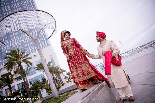 First Look in San Diego, CA Indian Wedding by Samson Productions