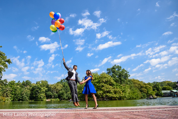 Engagement Shoot in New York, NY Indian Engagement by Mike Landis Photographer