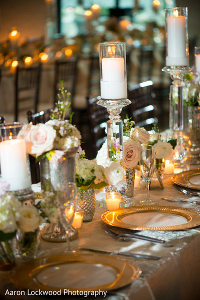 Reception Decor in Tampa, FL Indian Fusion Wedding by Aaron Lockwood Photography