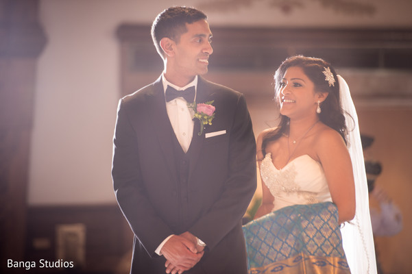 Ceremony in New Hyde Park, NY Indian Catholic Wedding by Banga Studios