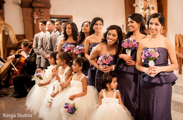 Portraits in New Hyde Park, NY Indian Catholic Wedding by Banga Studios