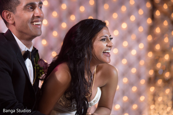 Reception in New Hyde Park, NY Indian Catholic Wedding by Banga Studios
