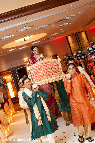 Ceremony in Chicago, IL Indian Fusion Wedding by Laura Witherow Photography