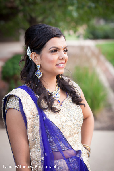Reception Portrait in Chicago, IL Indian Fusion Wedding by Laura Witherow Photography
