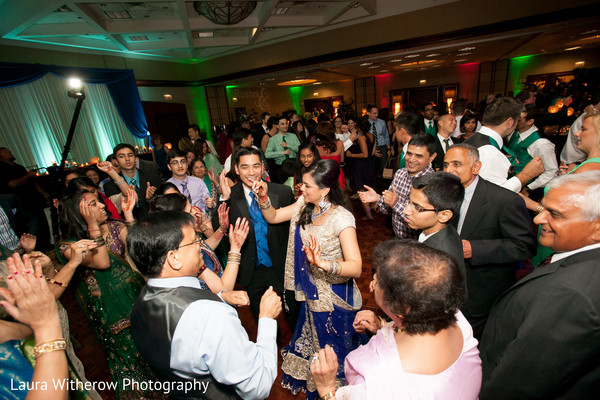 Reception in Chicago, IL Indian Fusion Wedding by Laura Witherow Photography