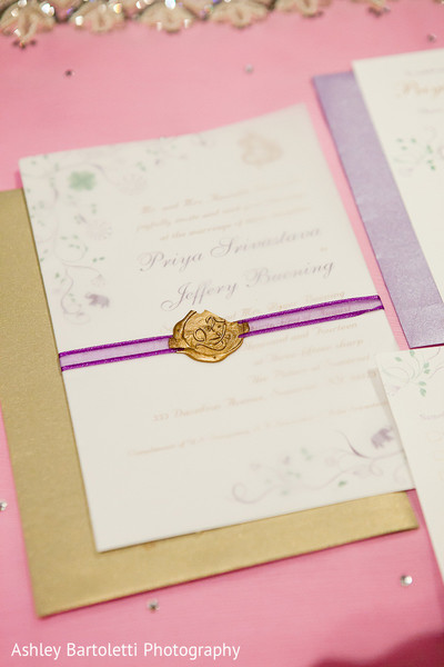 Stationery in Somerset, NJ Indian Fusion Wedding by Ashley Bartoletti Photography