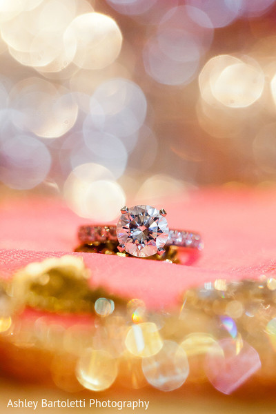 Engagement Ring in Somerset, NJ Indian Fusion Wedding by Ashley Bartoletti Photography