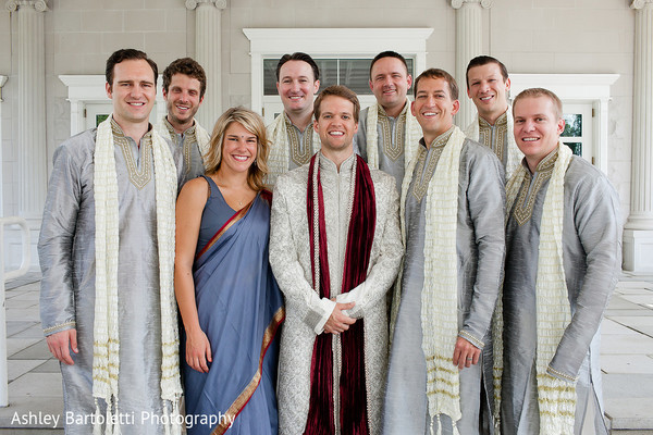 Groomsmen Portrait in Somerset, NJ Indian Fusion Wedding by Ashley Bartoletti Photography