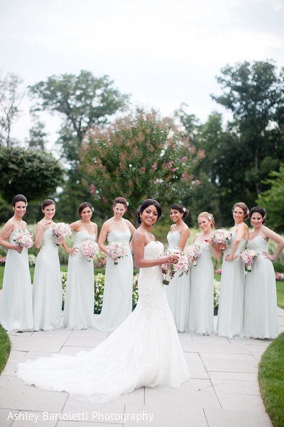 Bridal Party Portrait in Somerset, NJ Indian Fusion Wedding by Ashley Bartoletti Photography