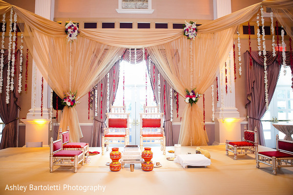 Floral & Decor in Somerset, NJ Indian Fusion Wedding by Ashley Bartoletti Photography