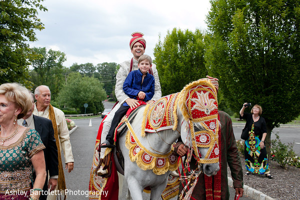 Baraat in Somerset, NJ Indian Fusion Wedding by Ashley Bartoletti Photography