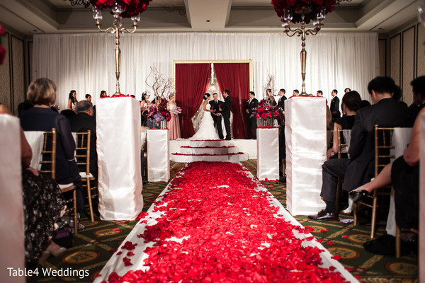 Ceremony in Dallas, TX Indian Fusion Wedding by Table4 Weddings