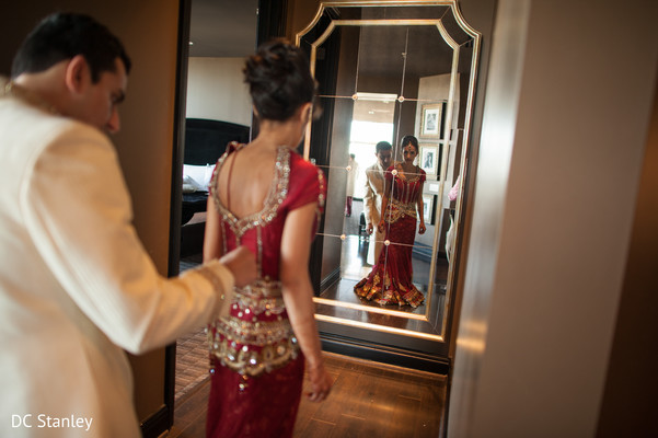 Getting Ready in Houston, TX Indian Wedding by DC Stanley