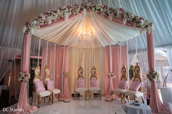 Mandap in Houston, TX Indian Wedding by DC Stanley