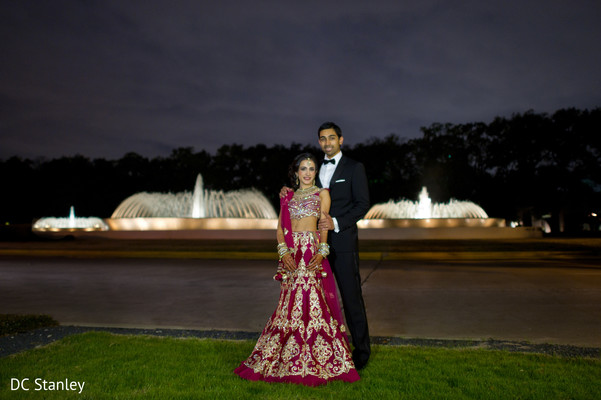 Reception Portrait in Houston, TX Indian Wedding by DC Stanley