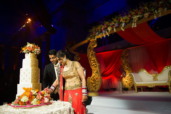 Reception in New York, NY Indian Wedding by J'adore Love