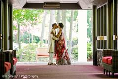 The couple takes pre-wedding portraits.