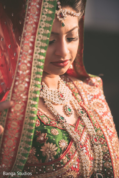 Bridal Portrait in Ontario, Canada Indian Wedding by Banga Studios