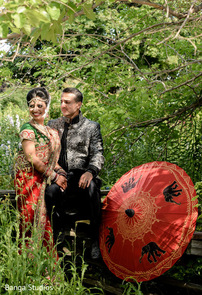 Wedding Portrait in Ontario, Canada Indian Wedding by Banga Studios
