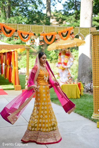 Bridal Fashion in Sands Point, NY Indian Wedding by Events Capture