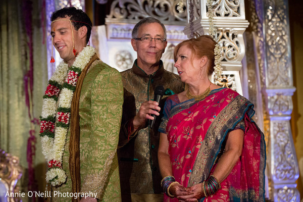 Ceremony in Pittsburgh, PA Indian Fusion Wedding by Annie O'Neill Photography