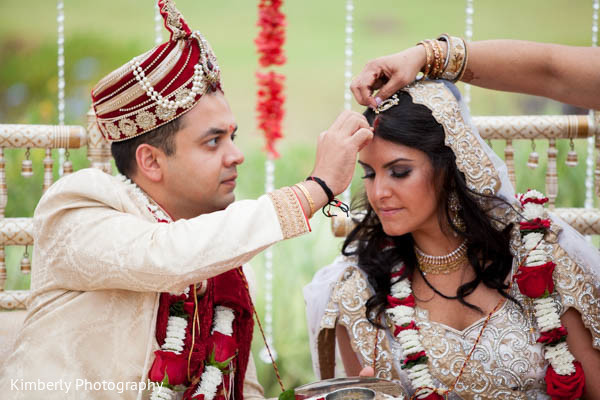 Ceremony in Orlando, FL Indian Fusion Wedding by Kimberly Photography