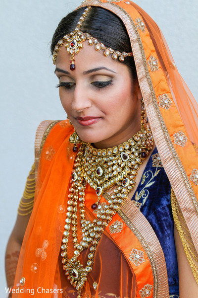 Bridal Portrait in Houston, TX Indian Wedding by Wedding Chasers