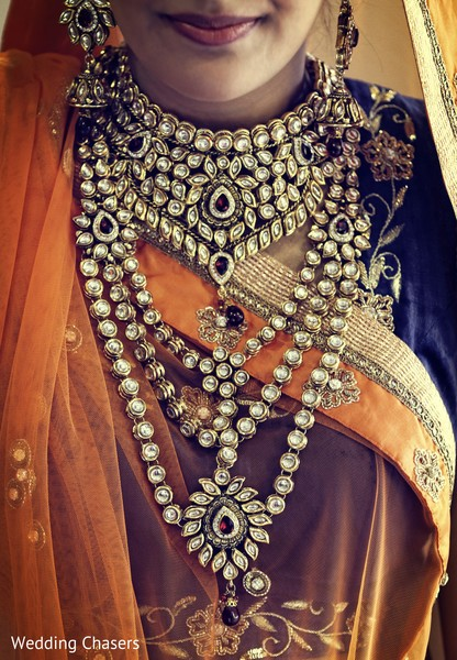 Bridal Jewelry in Houston, TX Indian Wedding by Wedding Chasers