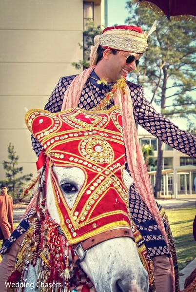 Baraat in Houston, TX Indian Wedding by Wedding Chasers