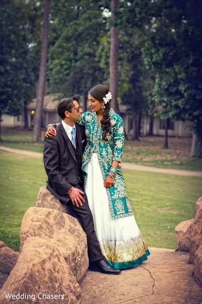 Reception Portrait in Houston, TX Indian Wedding by Wedding Chasers