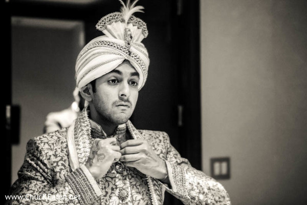 Getting Ready in Charlotte, NC Indian Wedding by Chuck Eaton Photographers