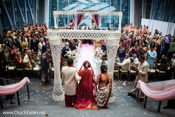 Ceremony in Charlotte, NC Indian Wedding by Chuck Eaton Photographers