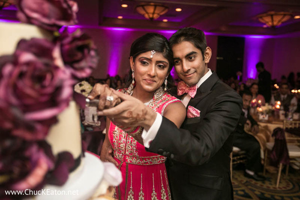 Reception in Charlotte, NC Indian Wedding by Chuck Eaton Photographers
