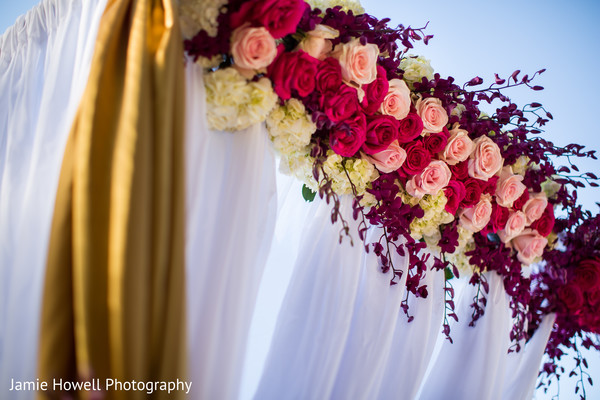 Floral & Decor in Savannah, GA Indian Fusion Wedding by Jamie Howell Photography