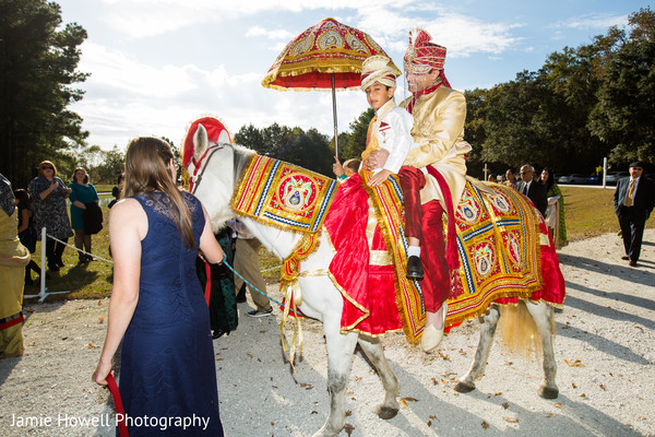 Baraat in Savannah, GA Indian Fusion Wedding by Jamie Howell Photography